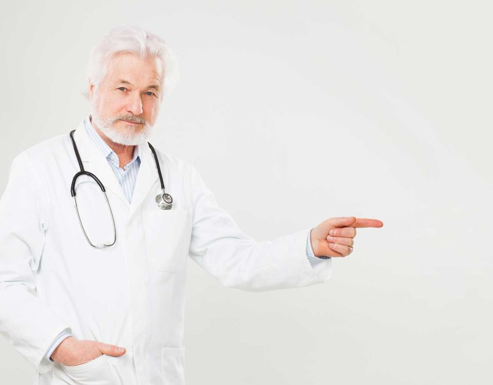 A doctor pointing to the importance of privacy statement of Healthcare Evolution, medical practice in Hunter Region